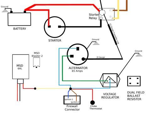 toyota 4k alternator wiring diagram images charging system wiring diagram