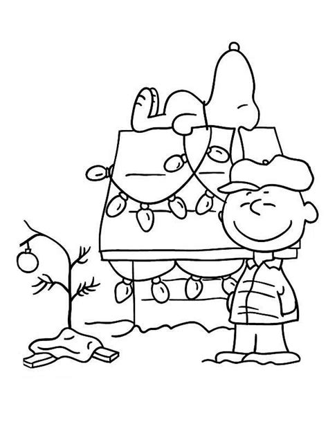 Charlie Brown Christmas Coloring Pages 28135