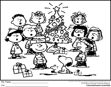 Charlie Brown Christmas Coloring Pages and Clip Art Free