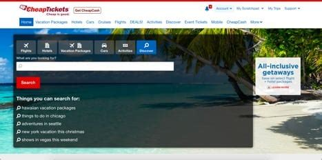 CheapTickets Official Site