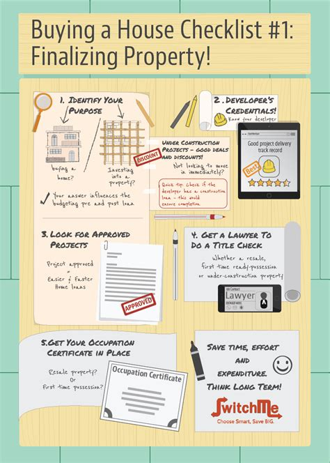 Checklist for buying a house Our Family Place