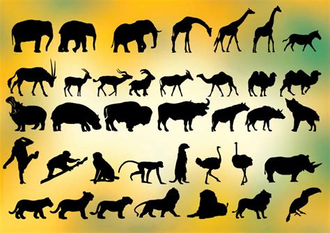 Cheetah silhouette Vector Free Download