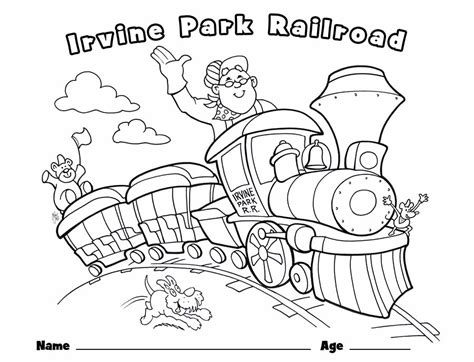 Children s Coloring Page Irvine Park Railroad