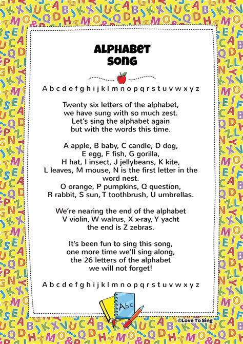 Children s Songs with free lyrics music and printable