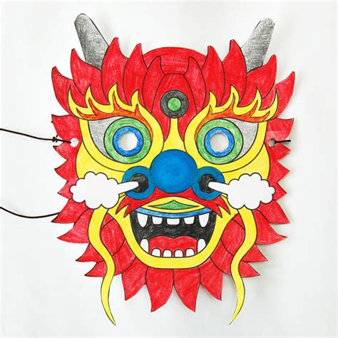 Chinese Dragon Mask Craft Kids Crafts FirstPalette