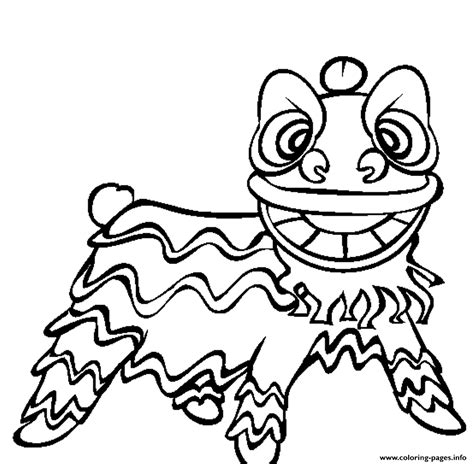 Chinese Lion Coloring Page
