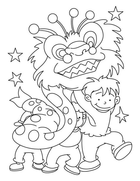 Chinese New Year Coloring Pages za pinterest