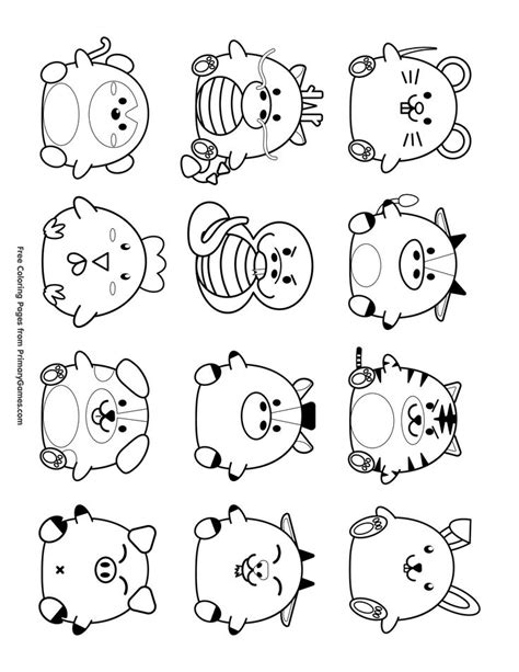 Chinese New Year Zodiac Animals Coloring Pages ChildBook