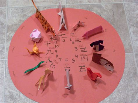Chinese Zodiac Origami diagrams for the 12 animals in the