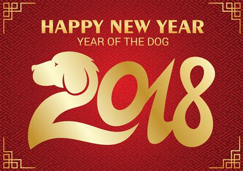 Chinese new year 2018 Dog New year lucky color 2018 to