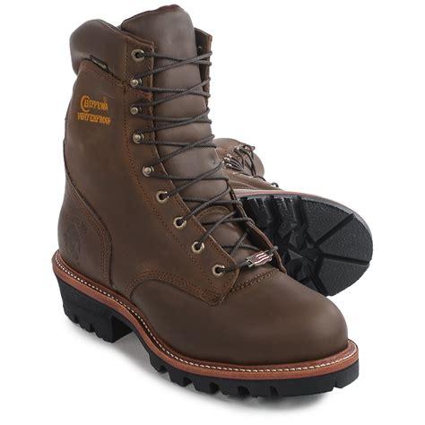 Chippewa Logger Steel Toe Work Boots Waterproof
