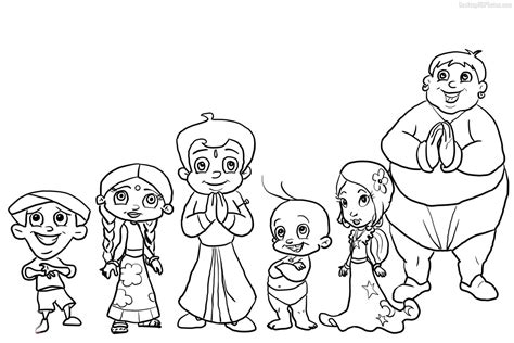 Chota Bheem Coloring Pages To Print Colorings