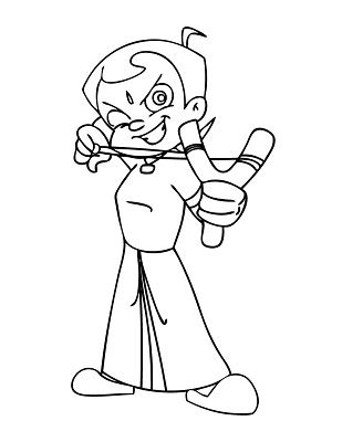 Chota Bheem coloring pages Squid Army