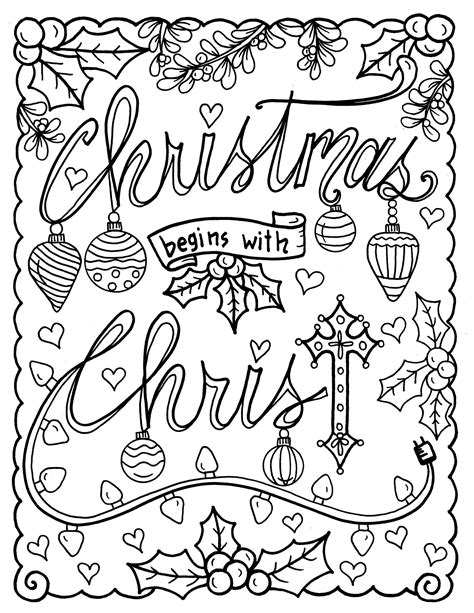 Christian Christmas Coloring Pages Free and Printable