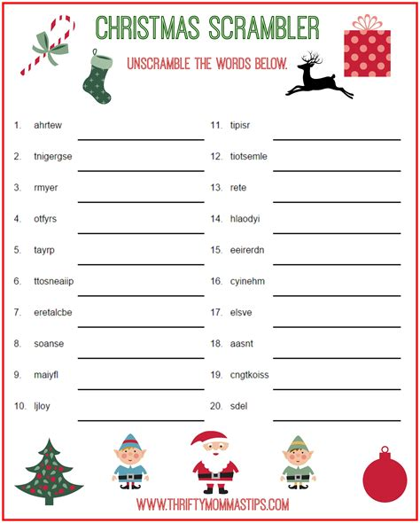Christmas Activities Games Puzzles free for kids