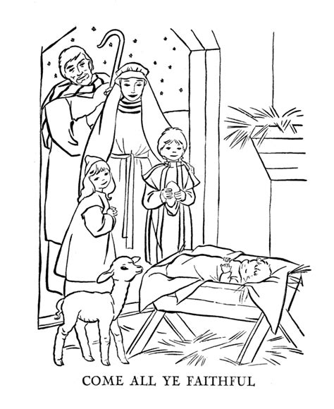 Christmas Bible The Christmas Story Coloring Pages