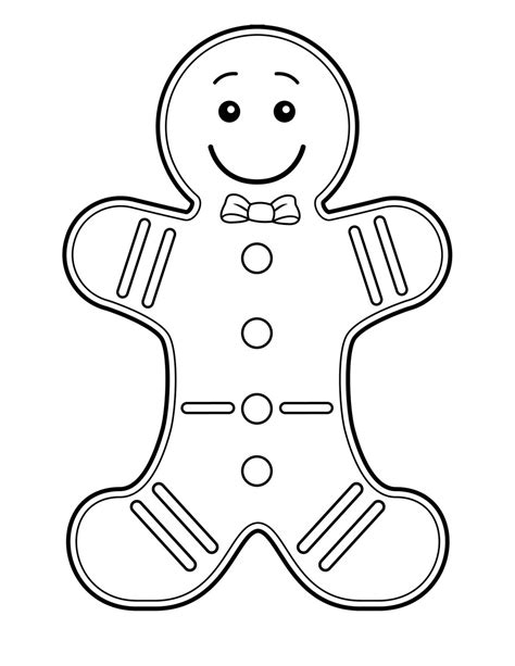 Christmas Coloring Game Gingerbread Man Cookie