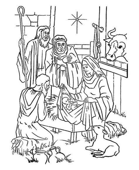 Christmas Coloring Pages Bible Story Printables