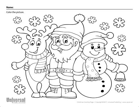 Christmas Coloring Pages Print and Color Santas and Snowmen