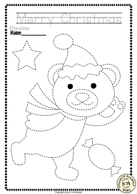 Christmas Coloring Pages Tracer Pages and Posters