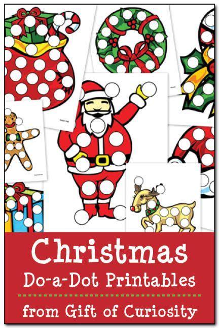 Christmas Do a Dot Printables Gift of Curiosity