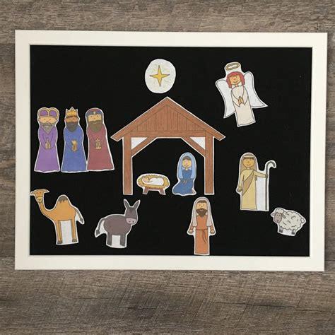 Christmas Nativity Scene Felt Board Fun dltk holidays