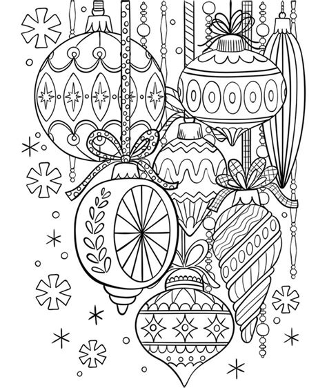 Christmas Ornament Coloring Page crayola