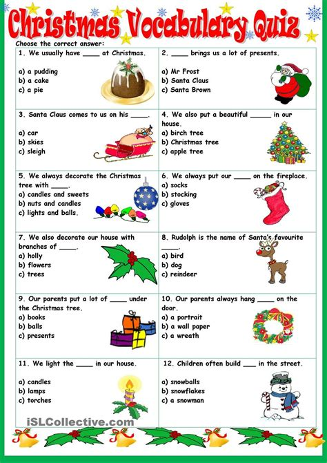 Christmas Printable Activities and Worksheets for