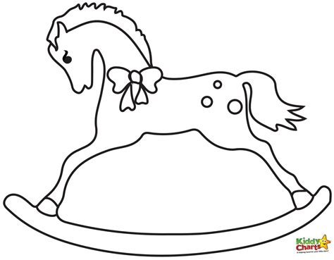 Christmas Rocking Horse coloring page Free Printable