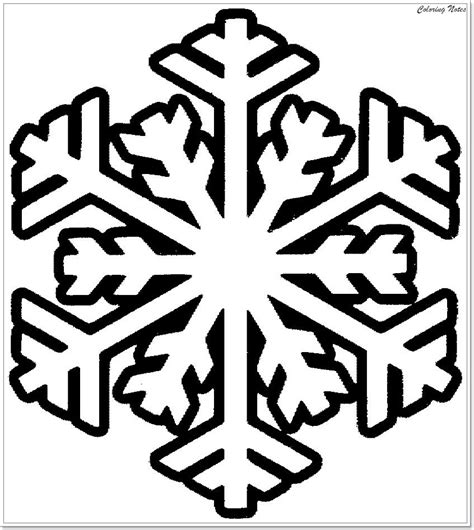 Christmas Snowflakes Coloring Pages GetColoringPages