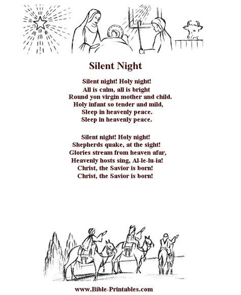 Christmas Song Lyrics Bible Coloring Pages Christian