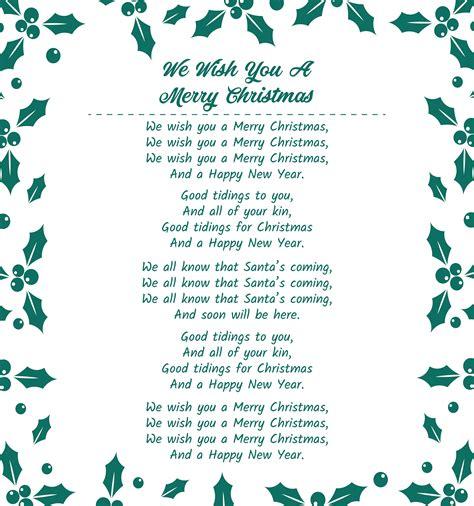 Christmas Songs Lyrics Christmas Carols SantaGames Net