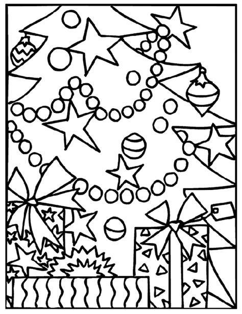 Christmas Tree Coloring Page crayola
