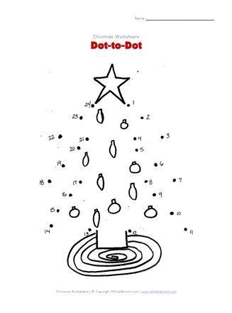 Christmas Tree Dot to Dot All Kids Network