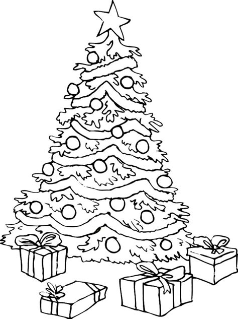Christmas Tree Online Coloring Page TheColor