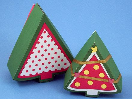 Christmas Tree Shaped Box Aunt Annie s Crafts