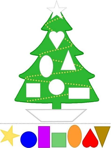 Christmas Tree Template For Crafts Coloring Pages Shapes