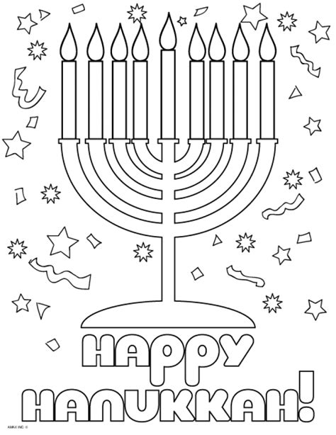 Christmas and Chanukah Worksheets and Coloring Pages