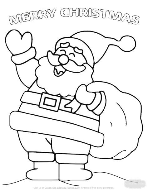 Christmas coloring pages Santa 20