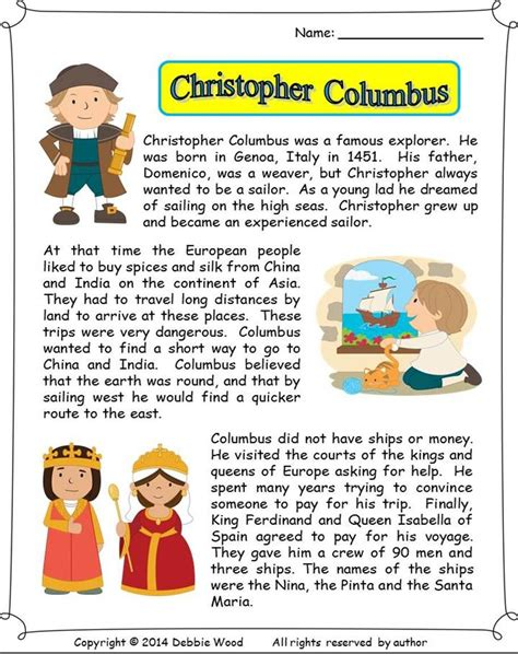 Christopher Columbus Short Stories for Kids