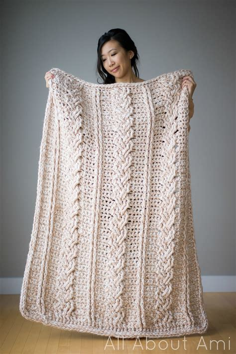 Chunky Braided Cabled Blanket All About Ami