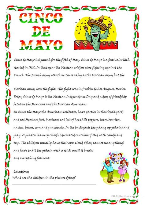 Cinco De Mayo Worksheets Free Printables Education