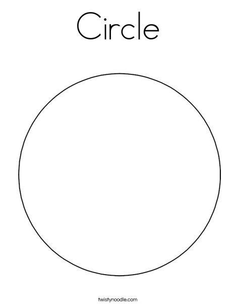 Circle Coloring Page Twisty Noodle