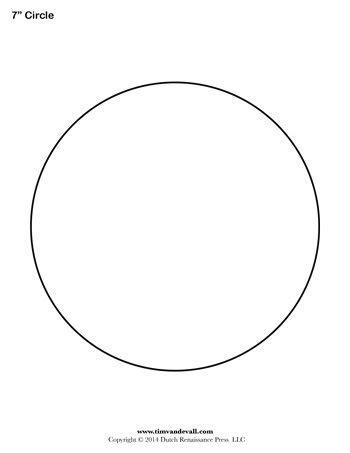 Circle Templates Blank Shape Templates Tim van de Vall