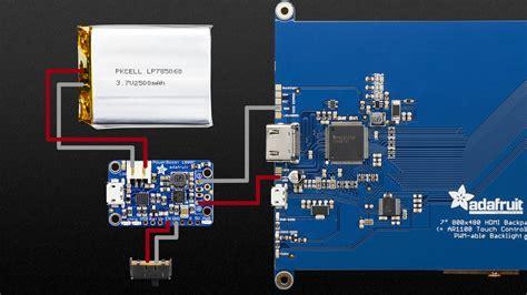 Circuit Diagram 7 Portable HDMI Monitor Adafruit