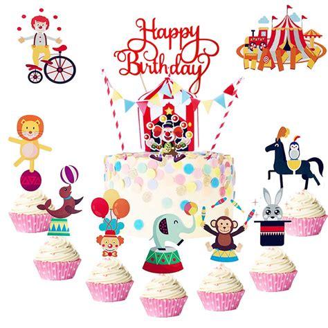 Circus Cake Toppers Circus Cupcake Toppers Circus