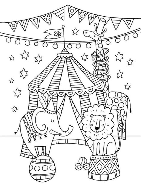 Circus Online Coloring Pages Page 1