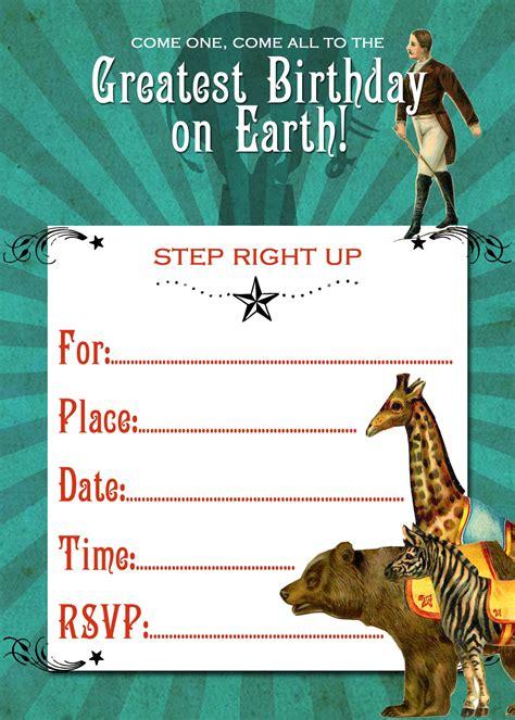 Circus Theme Party Invite Printable The Graphics Fairy