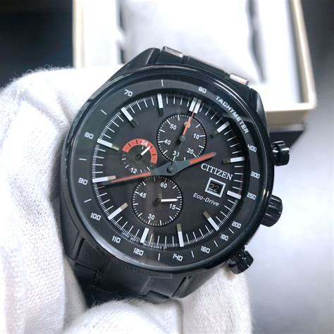 Citizen Men s Blue Dial Black IP Chronograph Argos