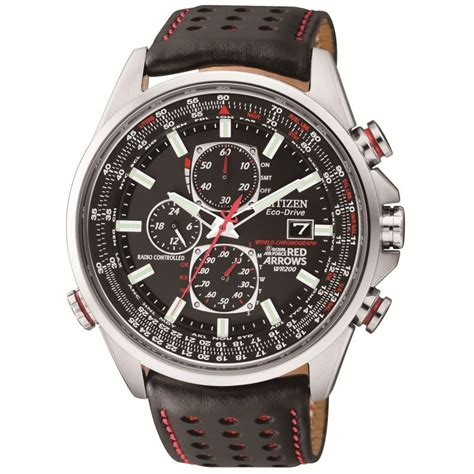 Citizen Red Arrows Radio Controlled Leather Strap Watch
